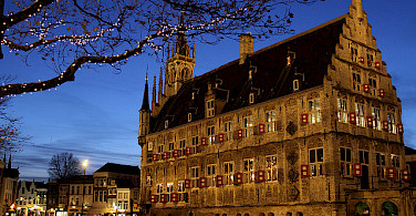 Town Hall in Gouda at night. Photo via Flickr:Sander van der Wel