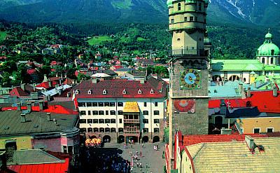 Golden Roof visible in Innsbruck, Austria. Photo via Austrian National Tourist Office