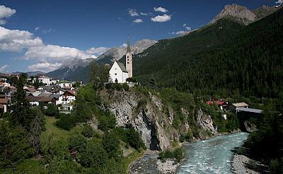 Cycle along the Inn River, Austria.