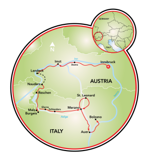Innsbruck to Bolzano Map