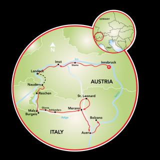 Innsbruck a Bolzano Map