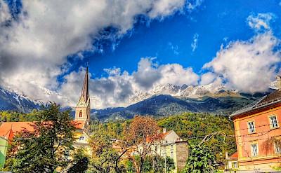 Innsbruck lies in the Inn valley in Austria. Flickr:r chelseth