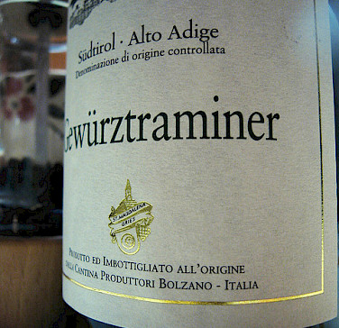 Gewurztraminer Wine from Bolzano. Photo via Flickr:Fabio Bruna