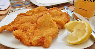 Great schnitzel in Austria! Flickr:traveljunction