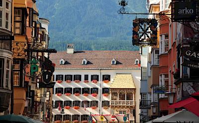Famous <i>Goldenes Dachl</i> or Golden Roof in Innsbruck, Austria where Emperor Maximilian I would watch festivals etc. Photo via Flickr:Francisco Antunes