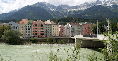 Inn River in Innsbruck, Austria. Photo via Flickr:brianj.lowe
