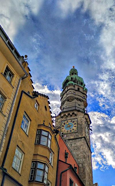 Tower in Innsbruck, Tyrol, Austria. Flickr:r chelseth