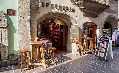Cafe in Innsbruck on the Inn River in Austria. Flickr:Shadowgate