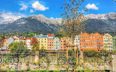 Along the Inn River in Innsbruck, Austria. Flickr:r chelseth