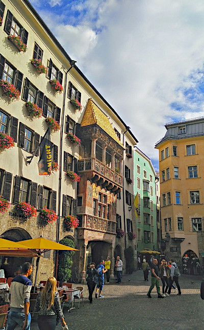 Golden Roof in Innsbruck, the capital of Tyrol, Austria. Flickr:r chelseth