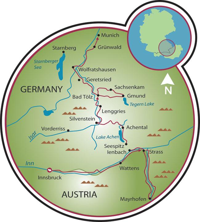 Innsbruck to Munich Bike Tour Austria Germany Tripsite