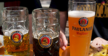 Tasty beers in Munich, Bavaria, Germany. Photo via Flickr:junseita