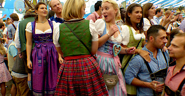 Oktoberfest at Hofbräuhaus in Munich, Bavaria, Germany. Photo via Flickr:Roman Boed