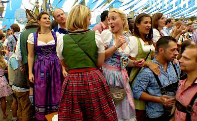 Oktoberfest at Hofbräuhaus in Munich, Bavaria, Germany. Photo via Flickr:Roman Boed