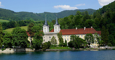 Schloss Tegernsee in Tegernsee on Lake Tegernsee, Bavarian Alps, Germany. Photo via Flickr:Heribert Bechen