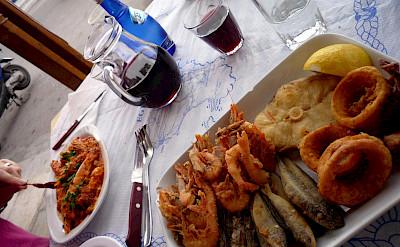 Seafood platter on Aegina Island in Greece. Flickr:Chris