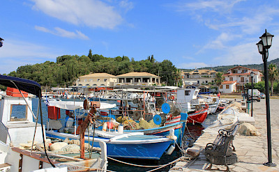 Fishing boats on Sivota Island, part of the Ionian Islands in Greece. Flickr:Henrik Bach Nielsen