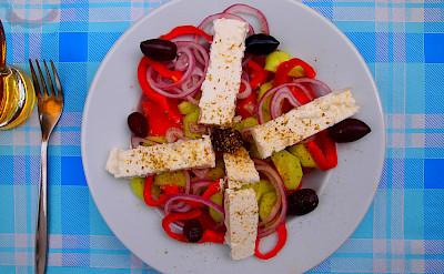 Salad on Paxos Island in Greece. Flickr:Smoobs