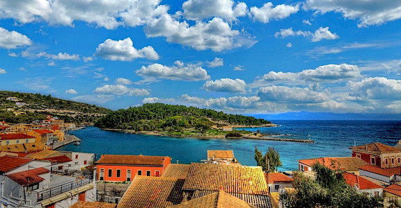 Gaios village on Paxos (Paxi) Island, Ionian Islands, Greece. CC:Anemos2000