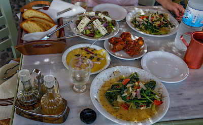 Typical Greek lunch. Flickr:Trevor Bobowick