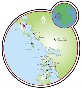 Ionian Islands Map