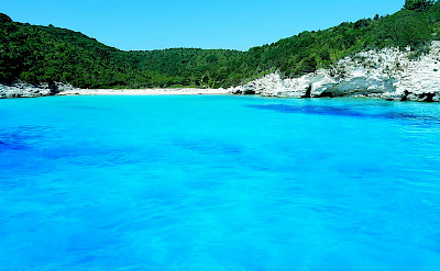 The blue waters of Paxos Island, part of the Ionian Islands in Greece. CC:Katsaras Kyriakos