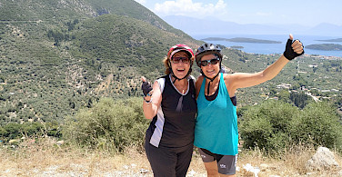 Our wonderful friends Susana and Delfina in the Ionian Islands. Photo via Susana Dalmasso