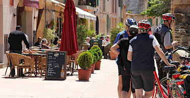 Bike rest for some wine and tapas perhaps. Photo courtesy of Tour Operator.