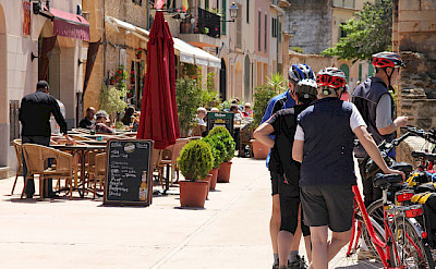 Bike rest for some wine and tapas perhaps. Photo via TO
