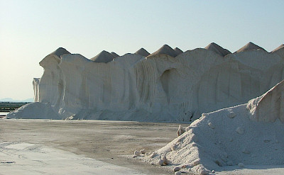 Salt stocks of Ses Salines, Campos, Mallorca, Spain. CC:Kufoleto