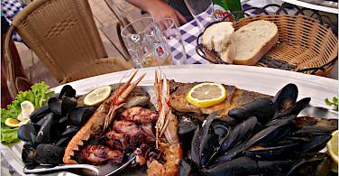 Seafood in Medulin, Istria, Croatia. Photo via Flickr:Erin Queen