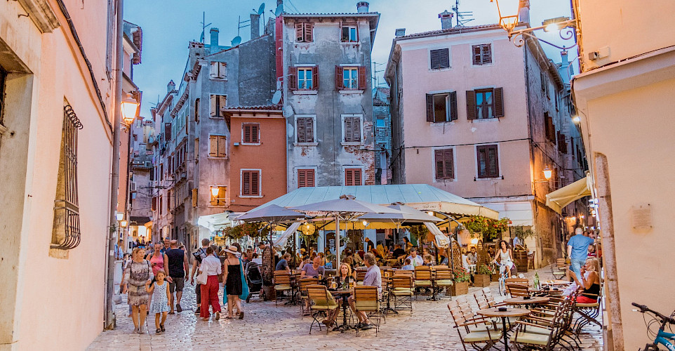Old Town in Rovinj, Istria, Croatia. Flickr:Marco Verch