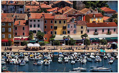 Boating and biking in Rovinj, Istria, Croatia. Photo via Flickr:Mario Fajt