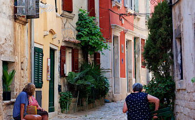 Quiet street in Rovinj, Istria, Croatia. Photo via Flickr:zolakoma