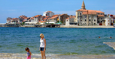 Swimming in Umag, Istria, Croatia. Photo via Flickr:Oleg Sidorenko