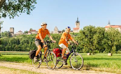 Biking through Bad Wimpfen, Germany. ©TO