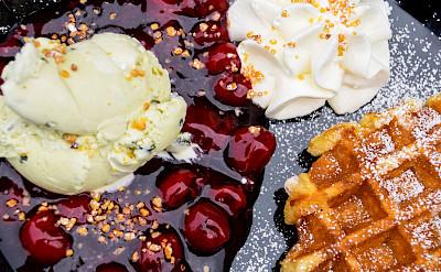 Waffle dessert in Germany! Flickr:Maria Eklind