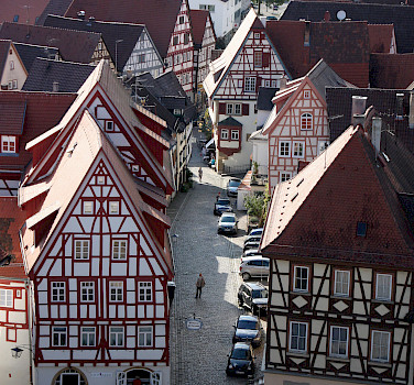 Half-timbered architecture in Bad Wimpfen, Germany. Photo via Tour Operator