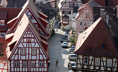Half-timbered architecture in Bad Wimpfen, Germany. Photo via TO