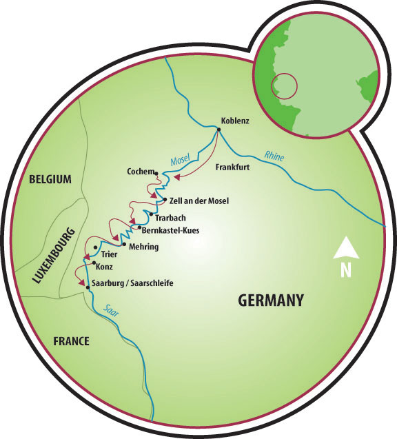 Koblenz to Saarburg Bike and Barge Tour - Germany   Tripsite on bonn germany map, weil der stadt germany map, mosel germany map, rothenburg ob der tauber, taunus germany map, colditz germany map, lutz germany map, kassel germany map, heligoland germany map, heidelberg germany map, cologne germany map, hellenthal germany map, rhineland germany map, lampertheim germany map, straubenhardt germany map, esens germany map, babelsberg germany map, runkel germany map, austin germany map, wannsee germany map,