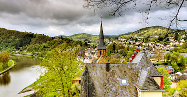 Saarburg along the Saar River, Germany. Photo via Flickr:Wolfgang Staudt