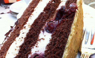 <i>Schwarzwälder Kirschtorte</i>, a popular German dessert. Flickr:Jeremy Keith