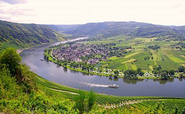 Along the Mosel River on Koblenz to Saarburg Germany Bike Tour. Photo via Tour Operator