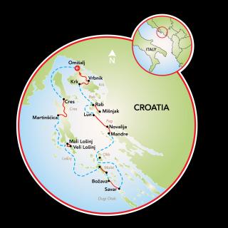 Kvarner Bay Map