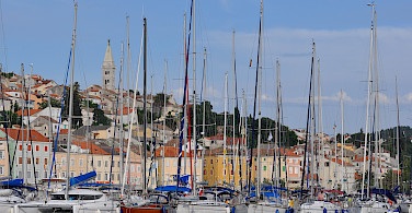 Harbor in Kvarner Bay, Croatia.