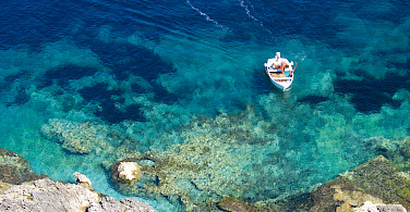 Blue waters of Kvarner Bay, Croatia.