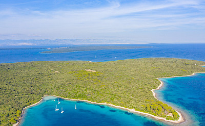 Olib Island far off in Kvarner Bay, Croatia. Flickr:Falco Ermert