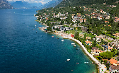 Lake Garda's many lakside towns. Photo via Flickr:amira_a
