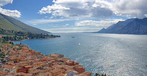 Malcesine along Lake Garda, Italy. Photo via Flickr:Michael Bertulat