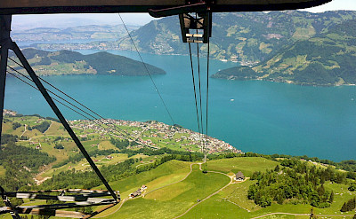 Cable car in Beckenried, Switzerland. Flickr:Vasile Cocovanu